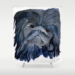 Pekingese Dog love... Shower Curtain