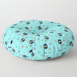 Soot sprites pattern Floor Pillow