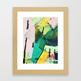 Hopeful[4] - a bright mixed media abstract piece Framed Art Print