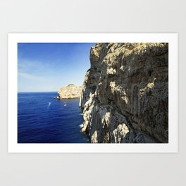 The Way To Neptune's Cave, Sardinia Art Print