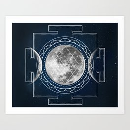 Triple Moon #buyart #buyartonline #sacred #geometry #society6 Art Print
