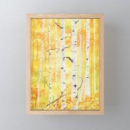 Autumn Birch Framed Mini Art Print