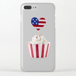 Independence day cupcake Clear iPhone Case