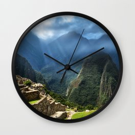 Lost City of the Incas Machu Picchu Wall Clock