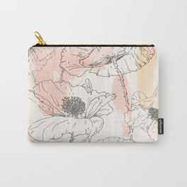 Watercolor Poppies Seamless Print Carry-All Pouch