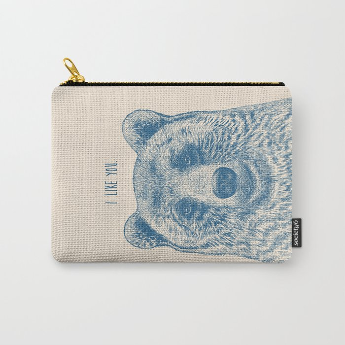 Bear (Ivory) Carry-All Pouch