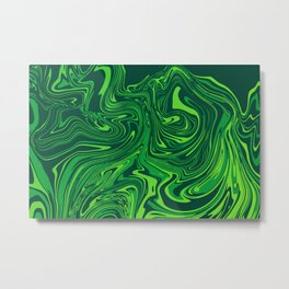 Green emerald abstract marble Metal Print