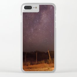 Lightpainting under the stars Clear iPhone Case