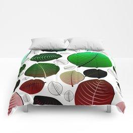 Bold Leaf Design Comforters