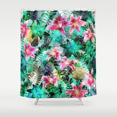 Jungle Lilies Shower Curtain