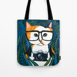 The Calico Photographer Cat Tote Bag