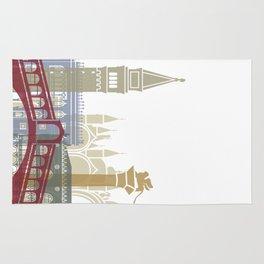 Venice skyline poster Rug