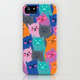 A Bunch of Cats iPhone Case