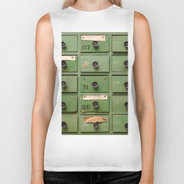 Old wooden cabinet with drawers Biker Tank