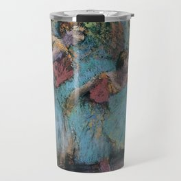 Edgar Degas - Three Dancers (Blue Tutus, Red Bodices) Travel Mug