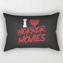 I love horror movies Rectangular Pillow