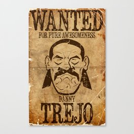 Wanted: Trejo Canvas Print