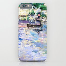 Berthe Morisot - The Port of Nice - Digital Remastered Edition iPhone Case