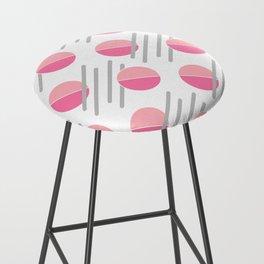 Modern Pink Circle Line Abstract Bar Stool