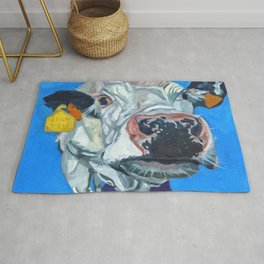 Leticia the Cow Rug
