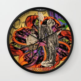 Psychedelic amarillo Wall Clock