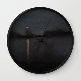 Nocturne by James Abbott McNeill Whistler - Retro Vintage Fine Art Wall Clock