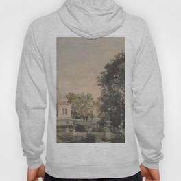 The Imperial Palace Livadia In The Crimea 1863 by Rudolf von Alt | Reproduction Hoody