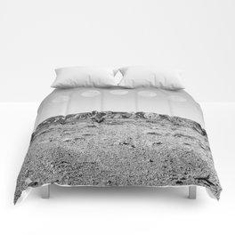 Desert Moon Ridge B&W // Summer Lunar Landscape Teal Sky Red Rock Canyon Rock Climbing Photography Comforters