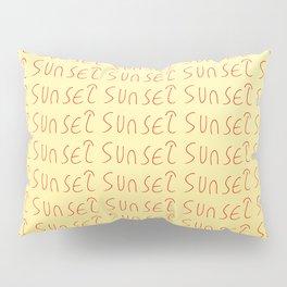 sunset-sky,light,twilight,dusk,gloaming,crepusculo Pillow Sham