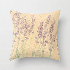 Lavender Fields Throw Pillow