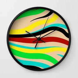 Abstract minimalist Stripes Wall Clock