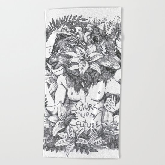 Suture up your future Beach Towel