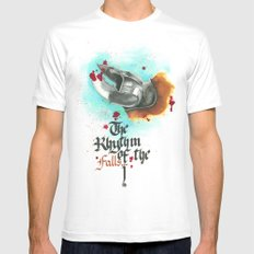 The rhythm of the falls MEDIUM Mens Fitted Tee White