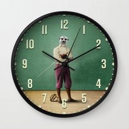 Milton Meerkat: Fencing Master Wall Clock