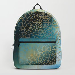 Gold Mandala Backpack