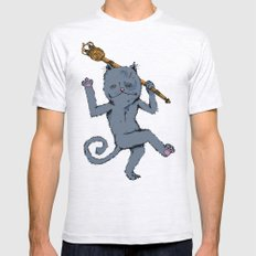 King of the Cats: Tom Tildrum Ash Grey Mens Fitted Tee SMALL