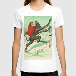 The Krampus stealing a child T-shirt