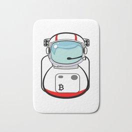 Astronaut Bitcoin Patch Bath Mat
