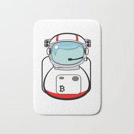 Astronaut Bitcoin Patch Bath Mat