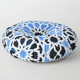 Moroccan Zellige pattern Floor Pillow