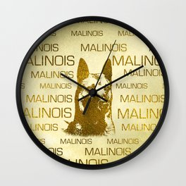 Golden Belgian Malinois - Mechelaar  - Maligator Wall Clock