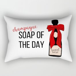 Champagne party print Rectangular Pillow