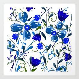 Floral pattern,illustration Art Print