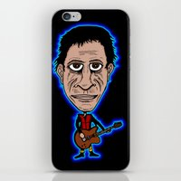 lou reed iPhone & iPod Skins featuring Lou Reed Rock God by Adam Metzner