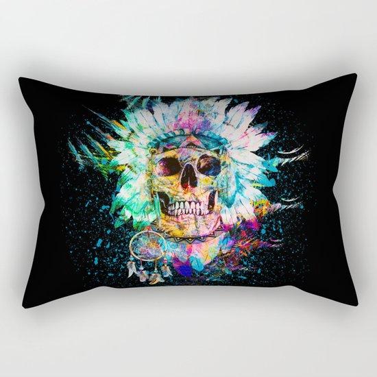 SKULL WILD S. Rectangular Pillow