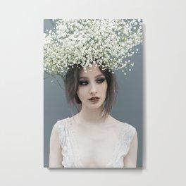 Floral portrait Metal Print