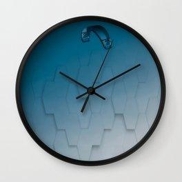 Parakite Cool 1 (hexa tiles) Wall Clock