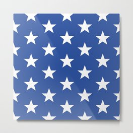 Superstars White on Blue Large Metal Print