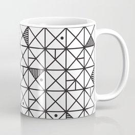 Monochrome Geometric 02 Coffee Mug
