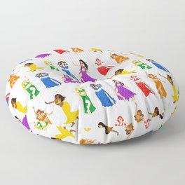 Belly Dancers - Rainbow Colors Floor Pillow